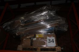 Pallet to Contain a Large Assortment of Items to Include Roller Blinds, Ironing Boards, Wellington