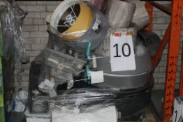 Pallet to Contain A Large Assortment of Items to Include Lampshades, Wallpaper, Storage Boxes,