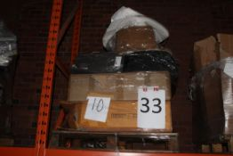 Pallet to Contain a Large Assortment of Items to Include Lights, Mirrors, Mattress Toppers
