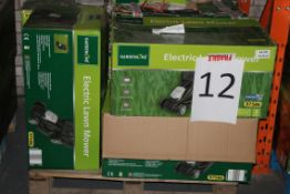 Pallet to Contain 8 Electric Gardenline Lawn Mowers Combined RRP £400