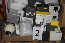 Pallet to Contain a Large Amount of John Lewis Designer Lighting Items Combined RRP £800