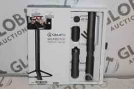 Boxed Cliquefie Selfie Stick in Space Grey RRP £50
