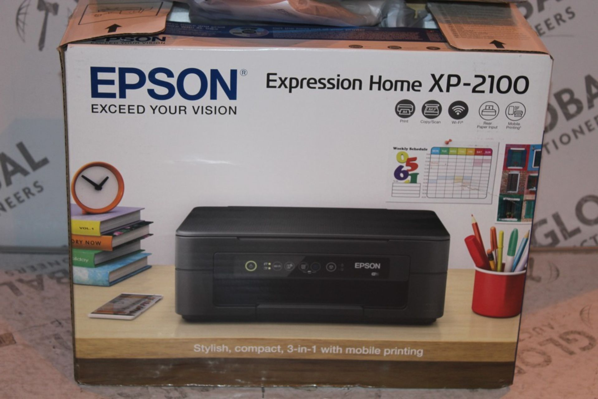 Lot 3 - Boxed Epson Expression Home XP2100 Printer RRP £55 (Public Viewing and Appraisals Available)
