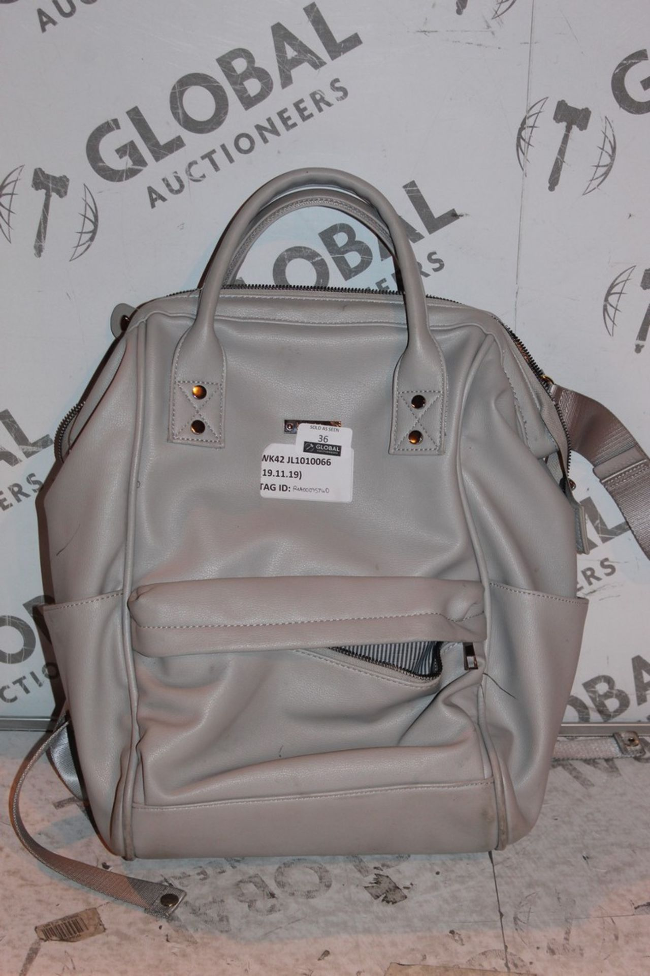 Lot 37 - Lot to Contain 3 BaBaBing Leather Changing Bags Combined RRP £180 (RET00273630)(RET00441321) (Public