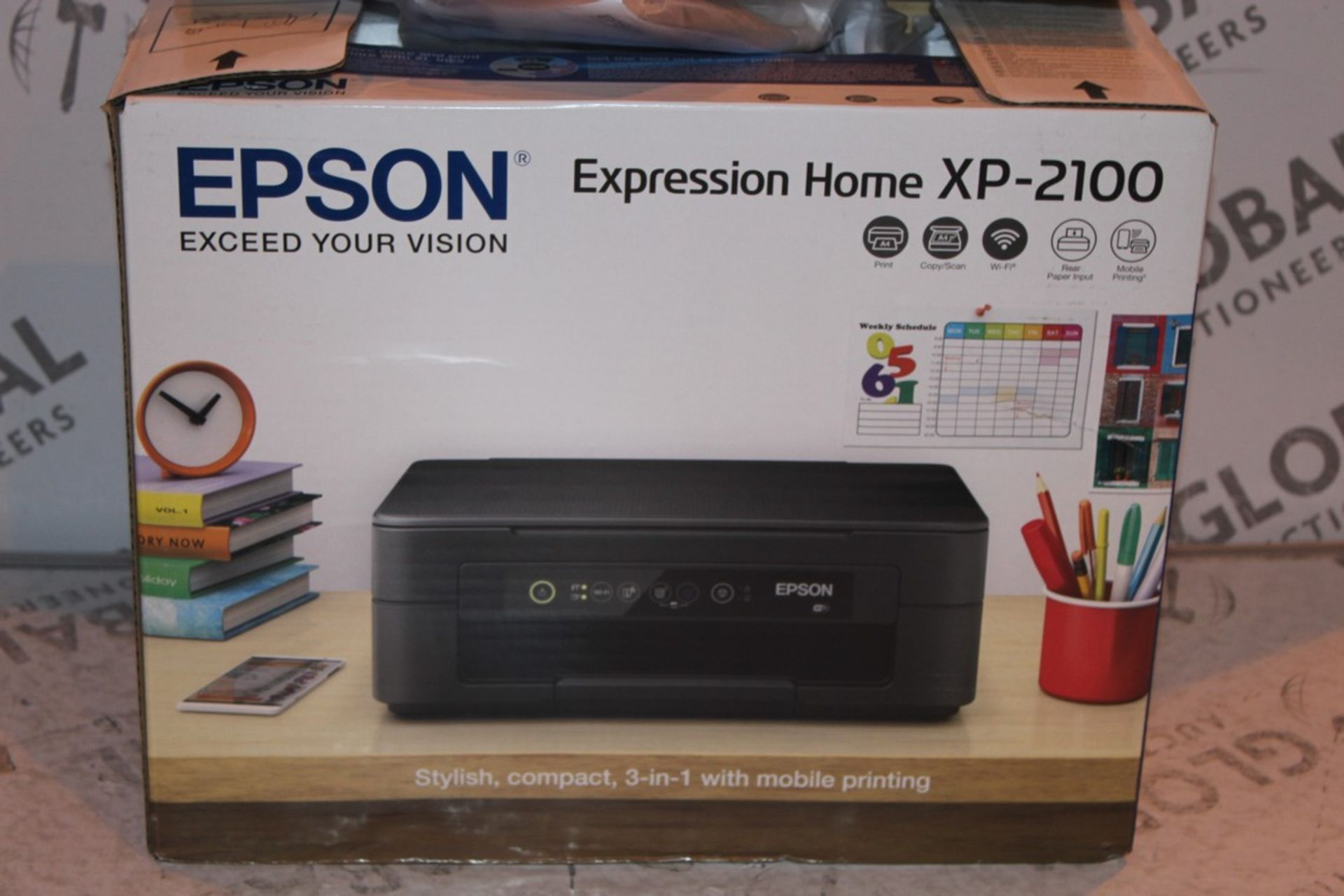 Lot 2 - Boxed Epson Expression Home XP2100 Printer RRP £55 (Public Viewing and Appraisals Available)