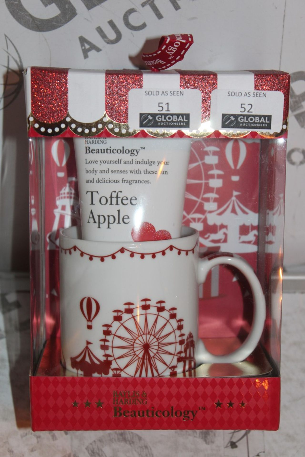 Lot 52 - Lot to Contain 2 Boxed Brand New Bayliss and Harding Beauticology Carnival Mug Sets to Include
