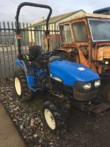 Lot 1 - New Holland TC24D 4wd mini tractor,Registration No. VX07 DPK (2007) Hours: 1538