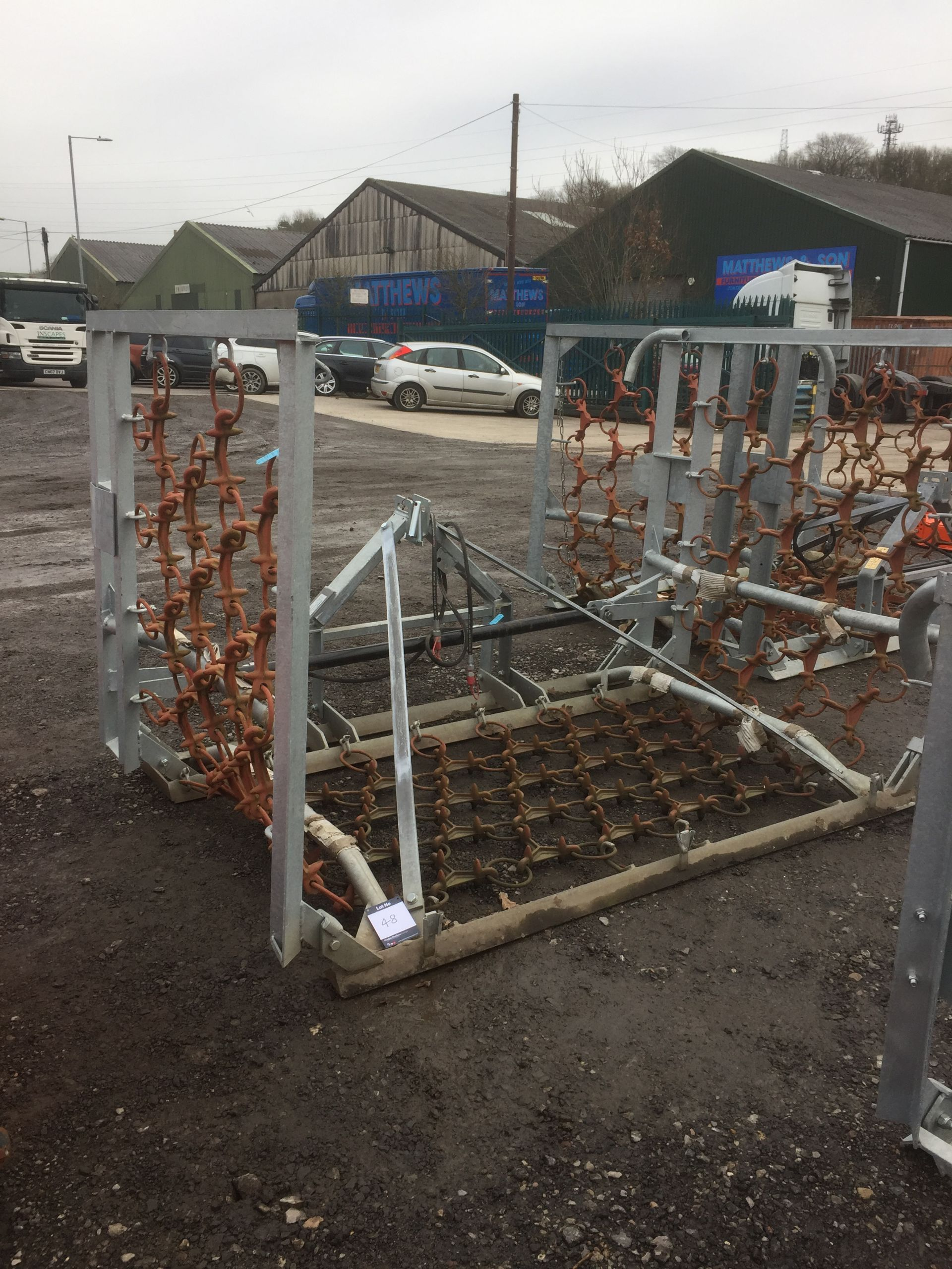 Lot 48 - Jarmet 5MHYD chain harrow with shackle connection, reversible mat and hydraulic folding (unused) (