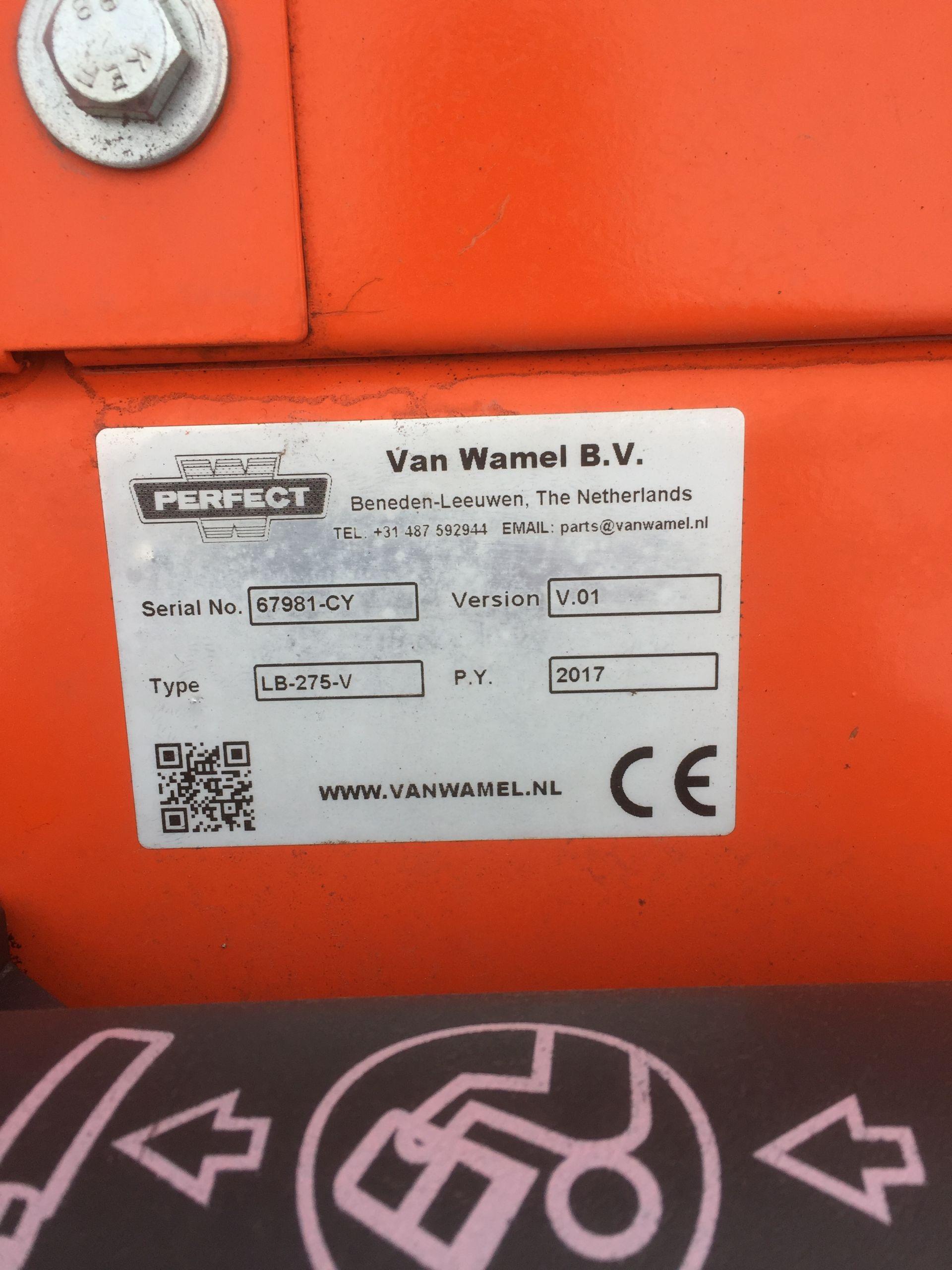 Lot 51 - Perfect LB275V 9' rotary mower (unused), Serial No. 67981-CY (2017)