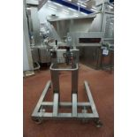 Unifiller, Model: PRO1000i, mobile twin lane depositor, Serial No. IPRD 10669 with hopper infeed and