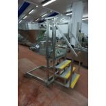 Unbadged mobile twin lane depositor with hopper infeed, access ladder and associated equipment, as