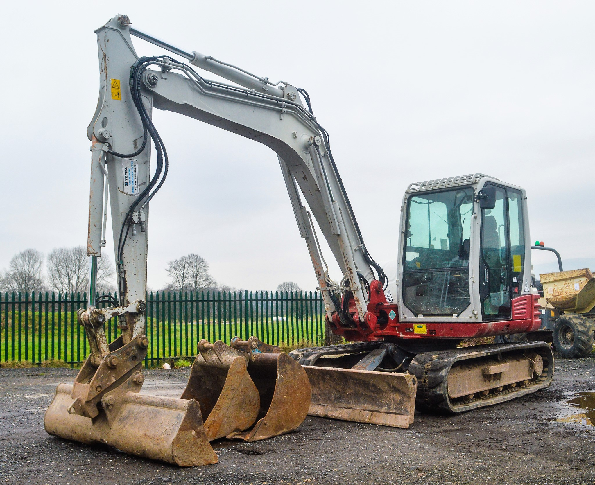 Takeuchi TB285 8 5 tonne rubber tracked excavator Year: 2012 S/N