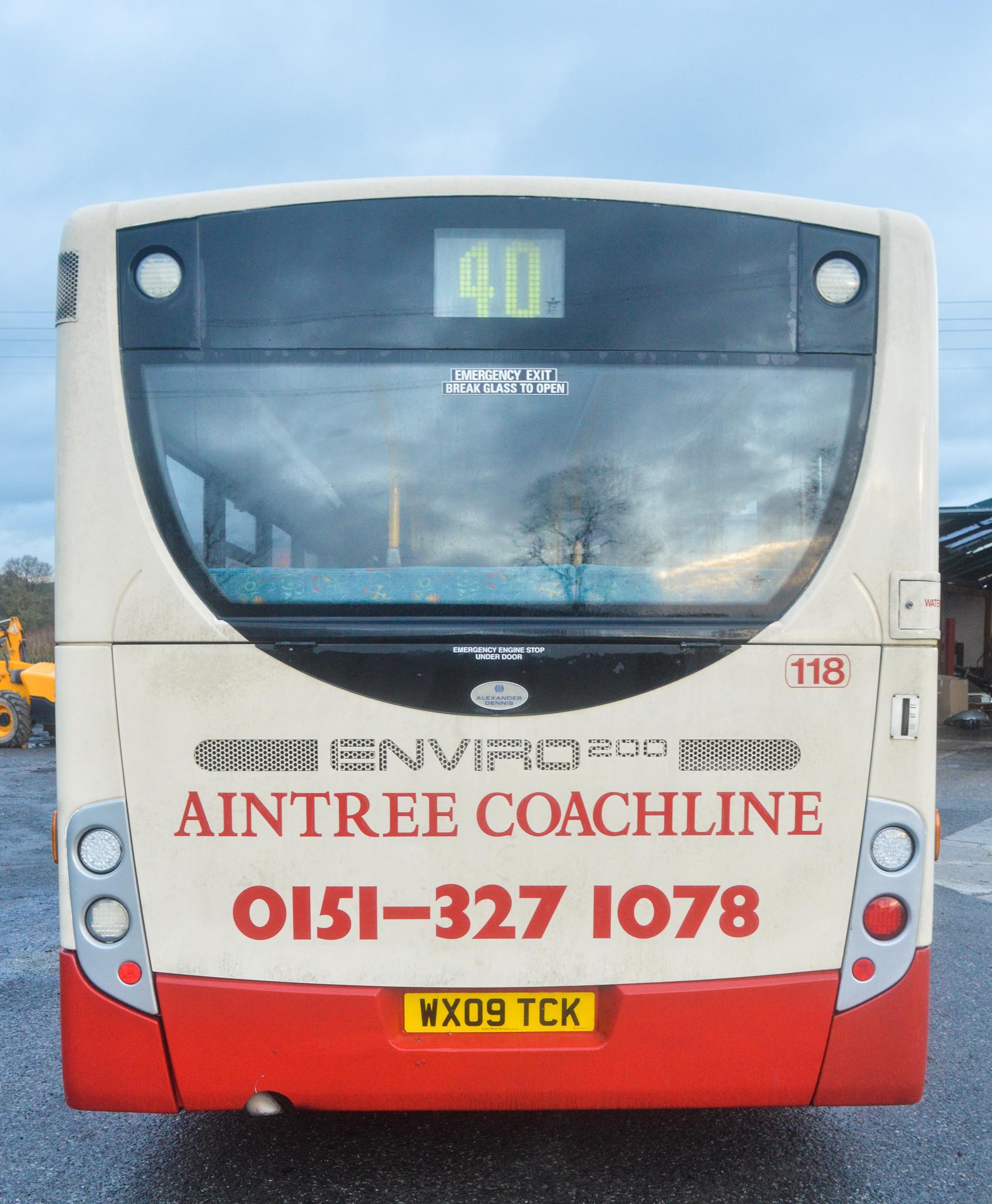 Lot 3 - Alexander Dennis Dart 4 Enviro 2000 29 seat single deck service bus Registration Number: WX09 TCK
