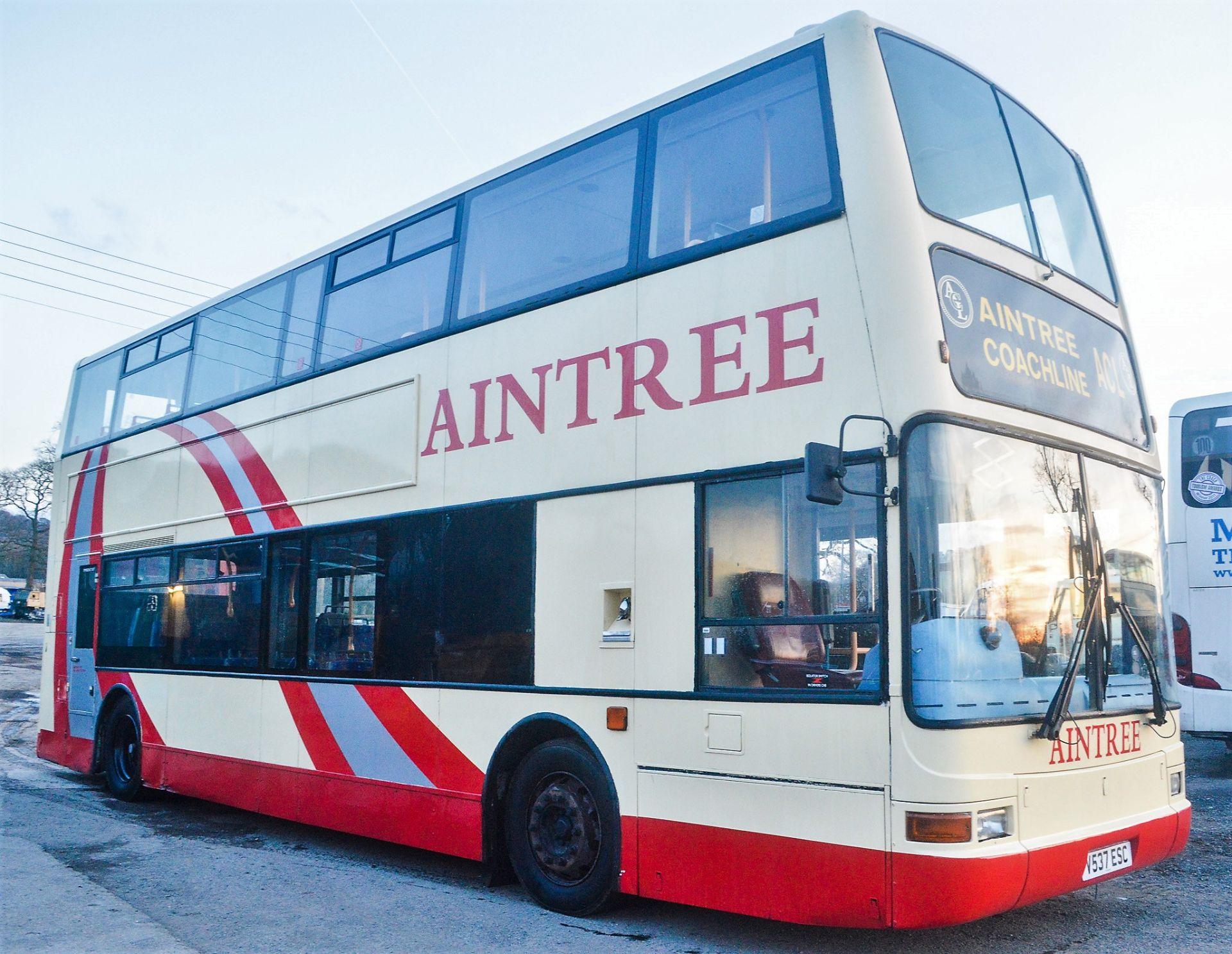 Lot 10 - Alexander Dennis Trident Plaxton President 75 seat double deck service bus Registration Number: V533