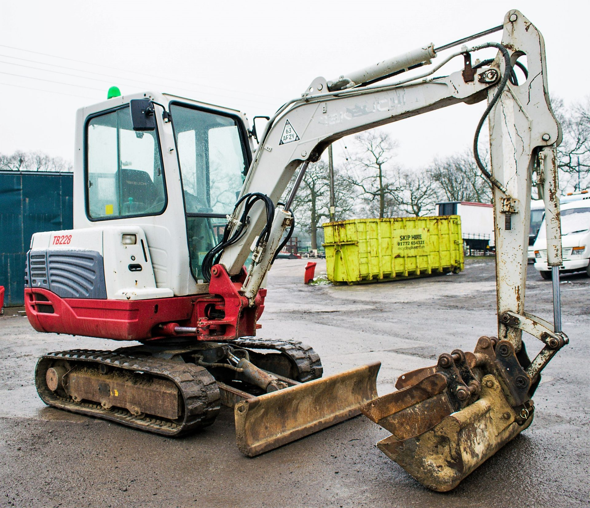 Lot 32 - Takeuchi TB228 2.8 tonne rubber tracked excavator Year: 2012 S/N: 122801774 Recorded Hours: 3748
