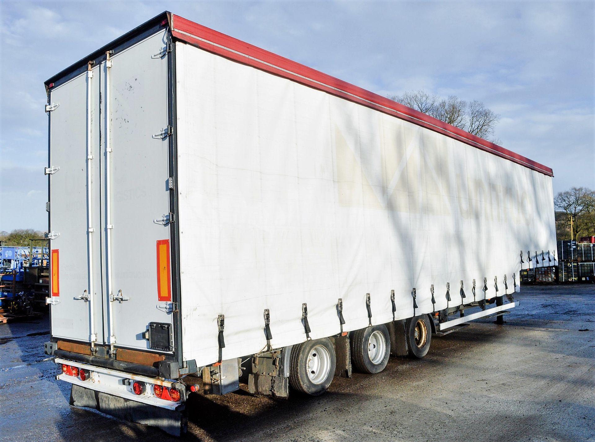 Lot 61A - Kel-Berg 13.6 metre step frame tri axle twin hydraulic deck covered car transporter trailer Year: