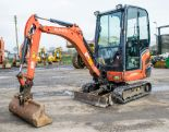Lot 35 - Kubota KX016-4 1.5 tonne rubber tracked mini excavator Year: 2013 S/N: 57034 Recorded Hours: 1873
