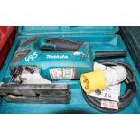 Lot 495 - Makita 110v jigsaw c/w carry case A623465