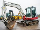 Lot 28 - Takeuchi TB250 5 tonne rubber tracked excavator Year: 2012 S/N: 125002028 Recorded Hours: 3781