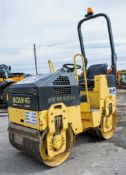 Bomag BW 80 ADH-2 double drum roller Year: 2007 S/N: 101460427059 Rec hours: 727 1079