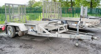 Indespension 8 ft x 4 ft tandem axle plant trailer A700384 ** 2 wheels missing **