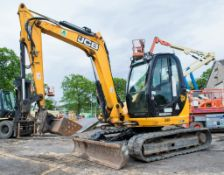 JCB 8085 ZTS 8.5 tonne rubber tracked midi excavator Year: 2013 S/N: 1073044 Recorded Hours: 93046