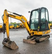 JCB 8018 1.8 tonne rubber tracked mini excavator Year: 2014 S/N: 2333718 Recorded Hours: 1585 blade,