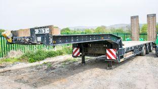 Faymonville STN - 3U 13.6 metre step frame tri axle low loader trailer Year: 2010 S/N: 309100009291