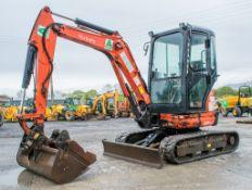 Kubota U25-3 2.5 tonne rubber tracked mini excavator Year: 2013 S/N: 25724 Recorded Hours: 1500