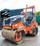 Hamm HD12 VV double drum ride on roller Year: 2014 S/N: Recorded Hours: A633810