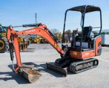 Kubota KX015-4 1.5 tonne rubber tracked mini excavator Year: 2011 S/N: 55637 Recorded Hours: 2394
