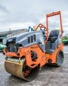 Hamm HD8 double drum ride on roller Year: 2013 S/N: H1991638 Recorded Hours: A603878 ** This machine