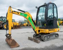 JCB 8016 1.6 tonne rubber tracked mini excavator Year: 2013 S/N: 2071455 Recorded Hours: blade,