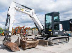 Bobcat E45 5 tonne zero tail swing rubber tracked midi excavator Year: 2014 S/N: 13265 Recorded