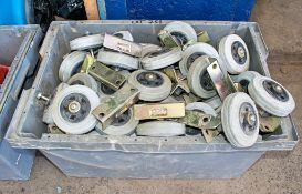 Box of miscellaneous wheels