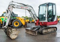 Takeuchi TB228 2.8 tonne rubber tracked excavator Year: 2014 S/N: Recorded Hours: blade, piped,