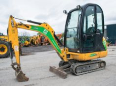 JCB 8016 1.6 tonne rubber tracked mini excavator Year: 2013 S/N: 2071482 Recorded Hours: 1312 blade,