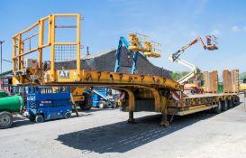 Andover SFLT 44 13.6 metre step frame tri axle low loader trailer Year: 2014 S/N: E0850005 MOT