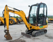 JCB 8016 1.6 tonne rubber tracked mini excavator Year: 2013 S/N: 2071357 Recorded Hours: 1753 blade,