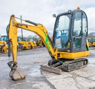 JCB 8016 1.6 tonne rubber tracked mini excavator Year: 2013 S/N: 2071389 Recorded Hours: 1337 blade,