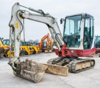 Takeuchi TB228 2.8 tonne rubber tracked mini excavator Year: 2014 S/N: 122803361 Recorded Hours: