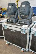 2 - Chauvet Intimidator Spot 355 IRC moving head LED lights c/w flight case