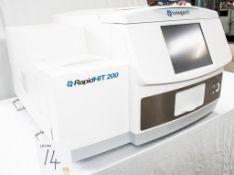 Integenx Rapid HIT 200 Human DNA identification system S/N: RH200 0105