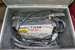 Pilotig MV200 110v tig welder c/w carry case
