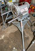 Ridgid 300 110v pipe threader c/w Ridgid tri-stand ** Power cord cut off **