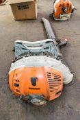 Stihl BR600 petrol driven back pack leaf blower