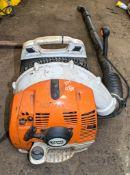 Stihl BR350 petrol driven back pack blower A650215