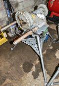 Ridgid 300 110v pipe threader c/w Ridgid tri-stand