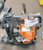 Stihl BT130 petrol driven post hole borer c/w 3 - auger bits A677988