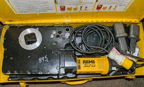 REMS 110v pipe bender c/w carry case